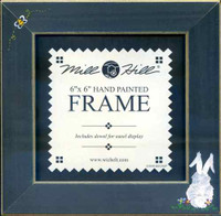 Matte Blue Bee and Bunny Mill Hill 6x6 Wooden Frame GBFRFA12