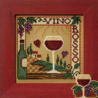 Vino Rosso Cross Stitch Kit Mill Hill 2007 Buttons & Beads Spring