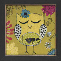 Hope Owl Beaded Counted Cross Stitch Kit Mill Hill Amylee Weeks 2014