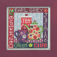 Tea Time Cross Stitch Kit Mill Hill 2014 Buttons & Beads Spring