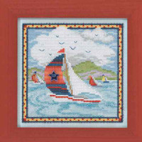 Summer Breeze Cross Stitch Kit Mill Hill 2014 Buttons & Beads Spring