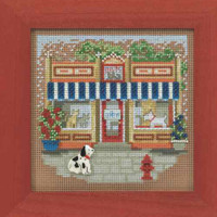 Pet Shoppe Cross Stitch Kit Mill Hill 2014 Buttons & Beads Spring