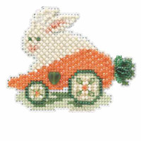 Rabbit Ride Beaded Cross Stitch Kit Mill Hill 2014 Spring Bouquet