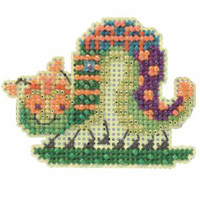 Caterpillar Beaded Cross Stitch Kit Mill Hill 2014 Spring Bouquet