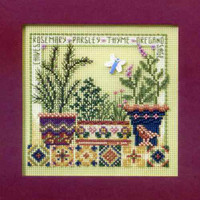 Herb Garden Cross Stitch Kit Mill Hill 2008 Buttons & Beads Spring