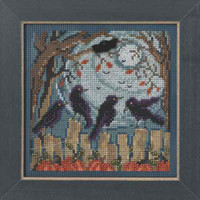 Ravens Cross Stitch Kit Mill Hill 2014 Buttons & Beads Autumn
