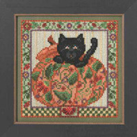 Peek-A-Boo Pumpkin Cross Stitch Kit Mill Hill 2014 Autumn Series