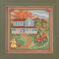 Harvest Home Cross Stitch Kit Mill Hill 2014 Buttons & Beads Autumn