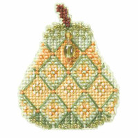 Jeweled Pear Bead Cross Stitch Kit Mill Hill 2014 Autumn Harvest