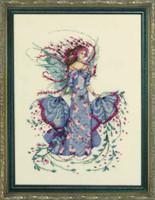 October Opal Fairy Kit Cross Stitch Chart Fabric Beads Braid Mirabilia MD132