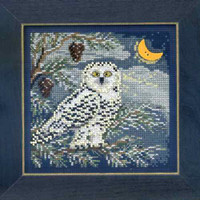Snowy Owl Cross Stitch Kit Mill Hill 2014 Buttons & Beads Winter