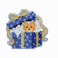 Cat in the Box Beaded Cross Stitch Kit Mill Hill 2014 Winter Holiday