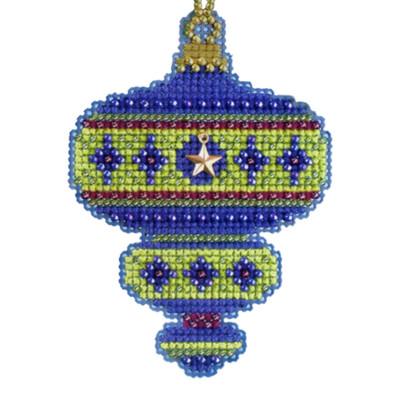 Peridot Beaded Cross Stitch Kit Mill Hill 2014 Christmas Jewels
