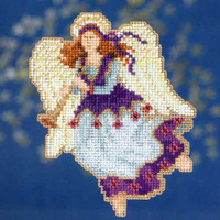 Seraphina Bead Christmas Cross Stitch Kit Mill Hill 2014 Angel Trilogy