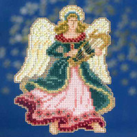 Gabrielle Bead Christmas Cross Stitch Kit Mill Hill 2014 Angel Trilogy