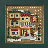 Village Bakery Cross Stitch Kit Mill Hill 2007 Buttons & Beads Winter