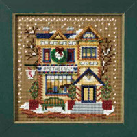 Apothecary Shop Cross Stitch Kit Mill Hill 2007 Buttons & Beads Winter