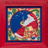 Santa Claus 2014 Bead Cross Stitch Kit Mill Hill 2014 Jim Shore Winter JS30-4102