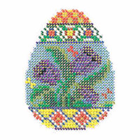 Tulip Egg Beaded Cross Stitch Kit Mill Hill 2015 Spring Bouquet MH185105