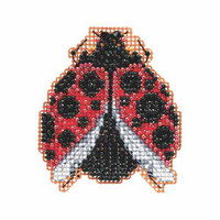 Ladybug Hug Beaded Cross Stitch Kit Mill Hill 2015 Spring Bouquet MH185103