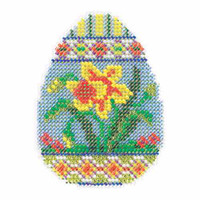 Daffodil Egg Bead Cross Stitch Kit Mill Hill 2015 Spring Bouquet MH185102