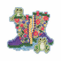 Garden Boots Beaded Cross Stitch Kit Mill Hill 2015 Spring Bouquet MH185101