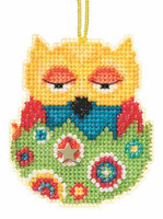 Emma Beaded Charmed Cross Stitch Kit Mill Hill 2015 Owlets MH165105