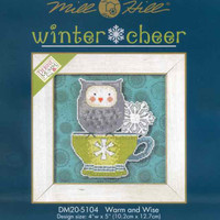 Warm & Wise Owl Beaded Cross Stitch Kit 2015 Debbie Mumm Winter Cheer
