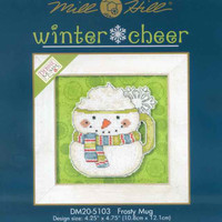 Frosty Mug Beaded Christmas Cross Stitch Kit 2015 Debbie Mumm Winter Cheer