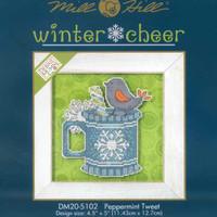 Peppermint Tweet Beaded Christmas Cross Stitch Kit 2015 Debbie Mumm Winter Cheer