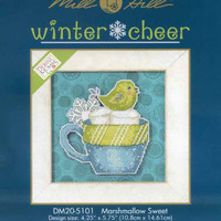 Marshmallow Sweet Bead Cross Stitch Kit 2015 Debbie Mumm Winter Cheer