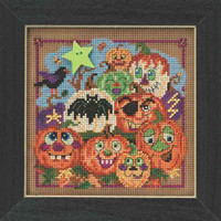 Painted Pumpkins Beaded Kit Mill Hill 2015 Buttons & Beads Autumn MH145206