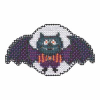 Boris the Bat Bead Cross Stitch Kit Mill Hill 2015 Autumn Harvest MH185203