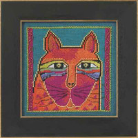 Wild Orange Cat Cross Stitch Kit Aida Mill Hill 2015 Laurel Burch LB305111