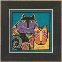 Feline Friends Cross Stitch Kit Aida Mill Hill 2015 Laurel Burch LB305116