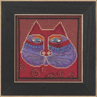 Red Cat Cross Stitch Kit Linen Mill Hill 2015 Laurel Burch LB305105