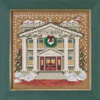 City Bank Beaded Cross Stitch Kit Mill Hill 2015 Buttons & Beads Winter MH145302