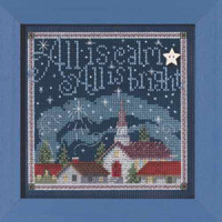 All is Calm Cross Stitch Kit Mill Hill 2015 Buttons & Beads Winter MH145305