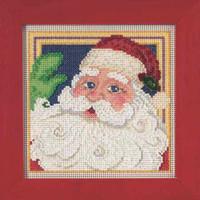 Jolly St Nick Cross Stitch Kit Mill Hill 2015 Buttons & Beads Winter MH145306