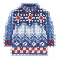 Sweater Weather Beaded Christmas Ornament Kit Mill Hill 2015 Winter Holiday MH185301