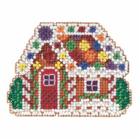 Gingerbread Cottage Beaded Christmas Ornament Kit Mill Hill 2015 Winter Holiday MH185305