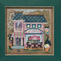 Ice Cream Shoppe Cross Stitch Kit Mill Hill 2010 Buttons & Beads Spring MH140103