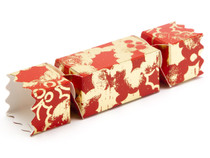 Small Twist End Cracker - Red and Gold Holly | Meridian Speciality Packaging