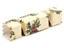 Small Twist End Cracker - Kraft Holly   Meridian Speciality Packaging