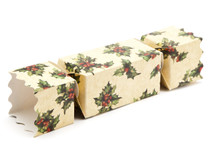Medium Twist End Cracker - Kraft Holly | Meridian Speciality Packaging