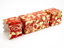 Large Twist End Cracker - Red and Gold Holly | Meridian Speciality Packaging