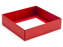 9 Choc Square Red Wibalin Base [BASE ONLY] | Meridian Speciality Packaging