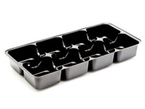 8 Choc Vac-Forme Tray - Black | Meridian Speciality Packaging