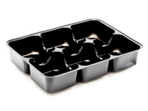 6 Choc Vac-Forme Tray - Black | Meridian Speciality Packaging