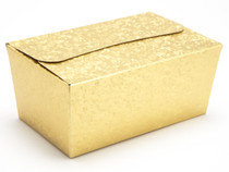 500g Ballotin - Embossed Gold   Meridian Speciality Packaging